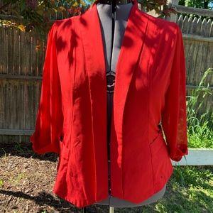 City Chic Drapey Blazer Jacket Red - Size 22